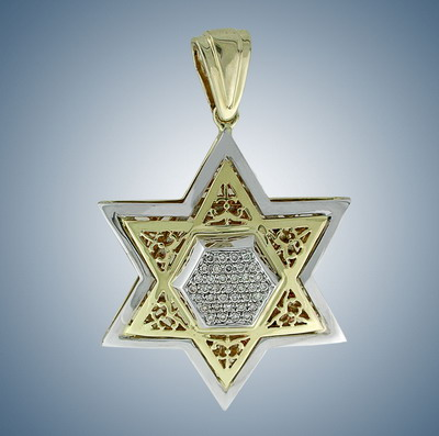 Golden Magen David with diamonds  (Judaica)